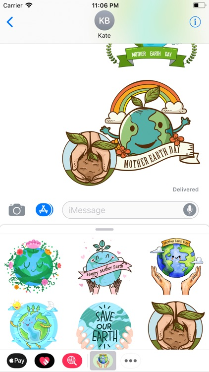 Cute Mother Earth Day Stickers