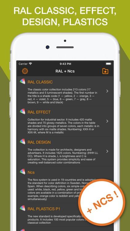 RAL color chart & Ncs palette screenshot-4