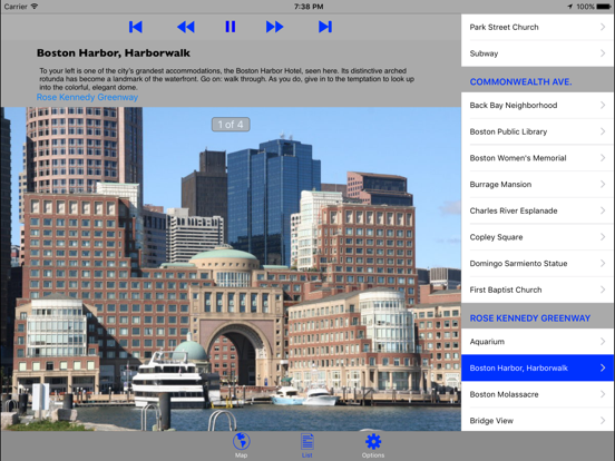 Boston Walking GPS Audio Tour Screenshots