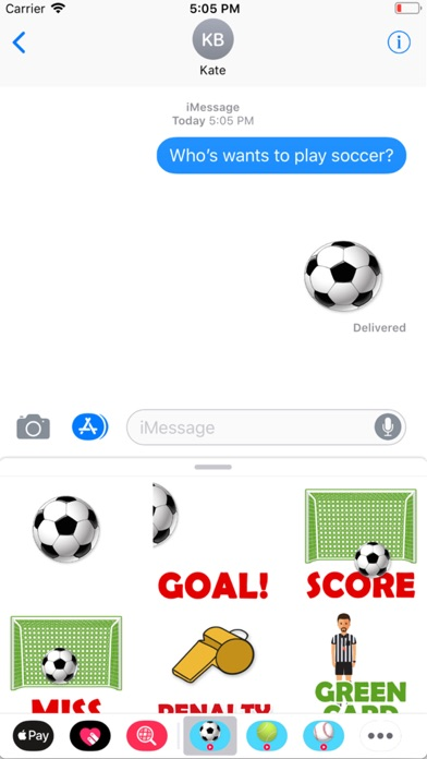 Animated Soccer Stickers Screenshot 1