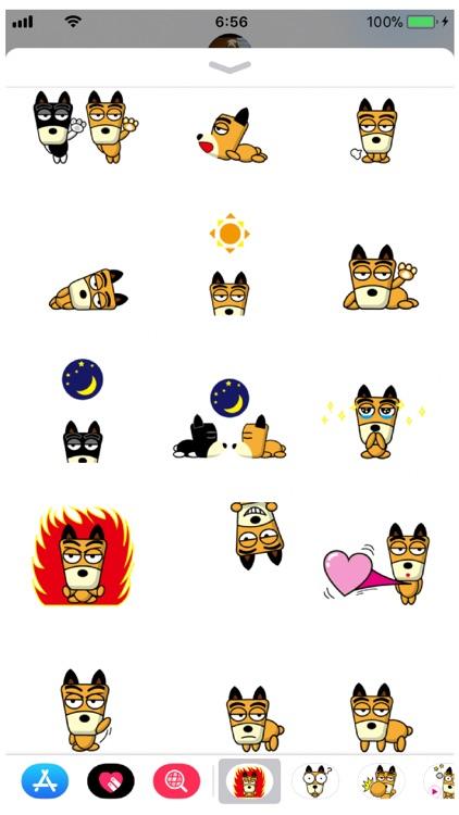 TF-Dog 3 Stickers