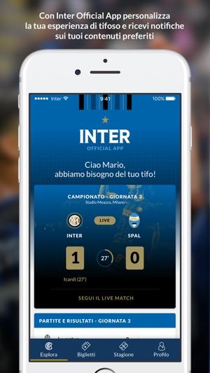 Inter Official App Screenshot