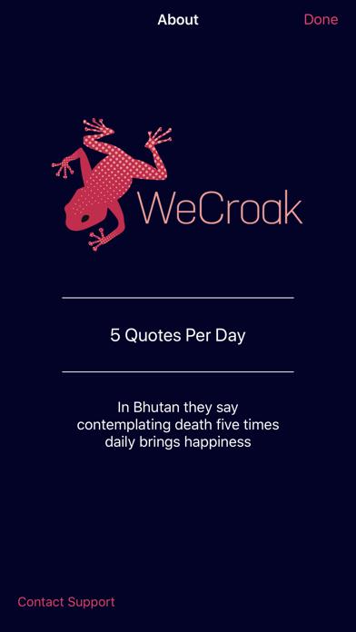 WeCroak app image