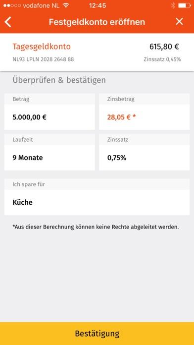 LeasePlan Bank SparenScreenshot von 4