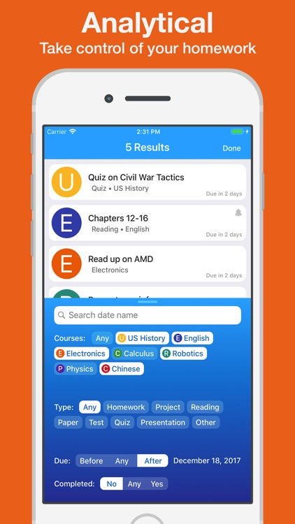 Homework App screenshot-3