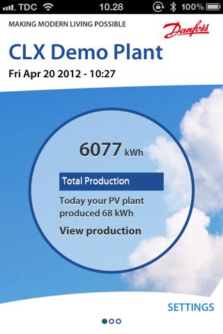 Danfoss SolarApp - náhled