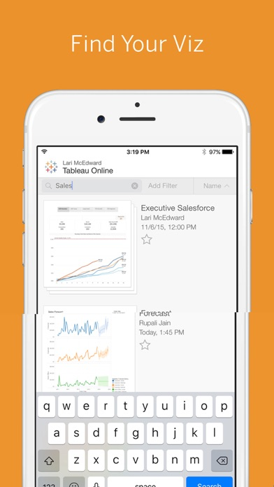 Tableau Mobile review screenshots
