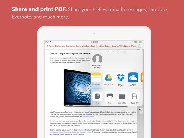 Web to PDF Converter & Reader Screenshot