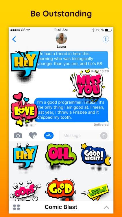 Comic Boom Cartoon Sticker App screenshot-4