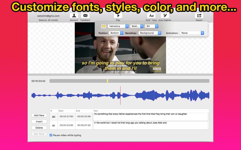 Video Caption Maker for Mac