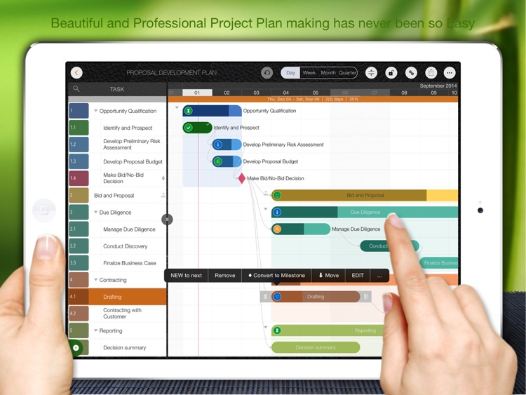 QuickPlan, Project Gantt Chart screenshot-0