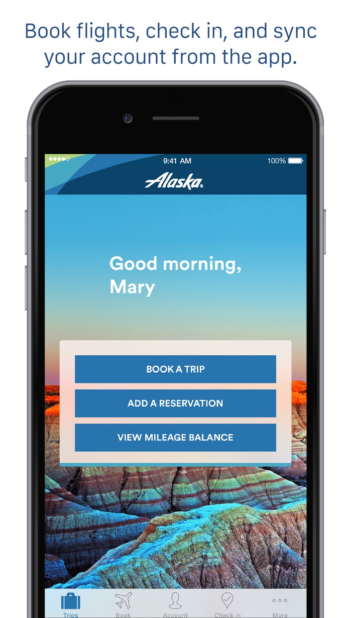 Alaska Airlines Screenshot