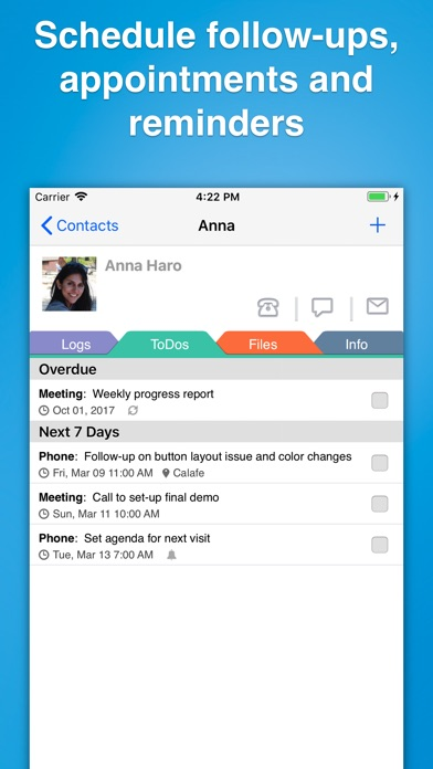 Contacts Journal Crm review screenshots