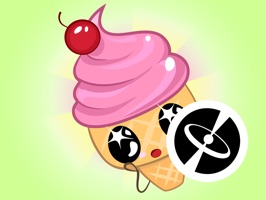 30 cute stickers for iMessage with beautiful ice cream horns