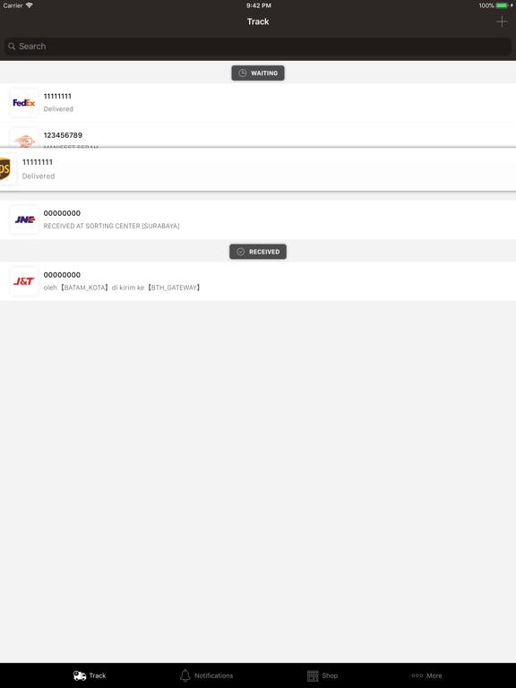 PaketQ - Track Shipments iPad