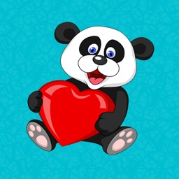 Lovely Panda Stickers & Emojis