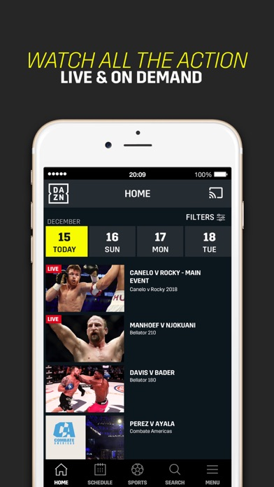 DAZN: Live Sports Streaming screenshot 6