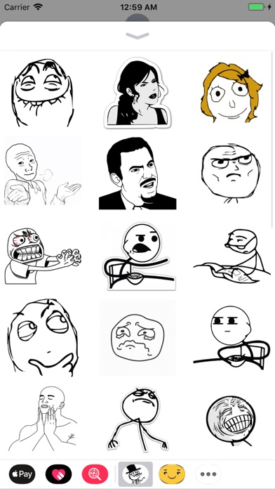 download Rage face troll stickers apps 2