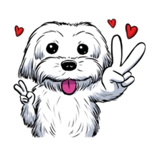 Adorable Maltese Dog - Maltmoji Emoji Sticker