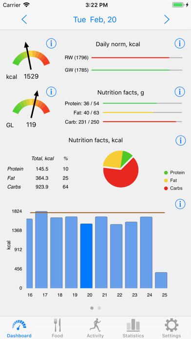 Noco Calories review screenshots