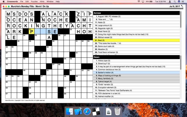 job crossword