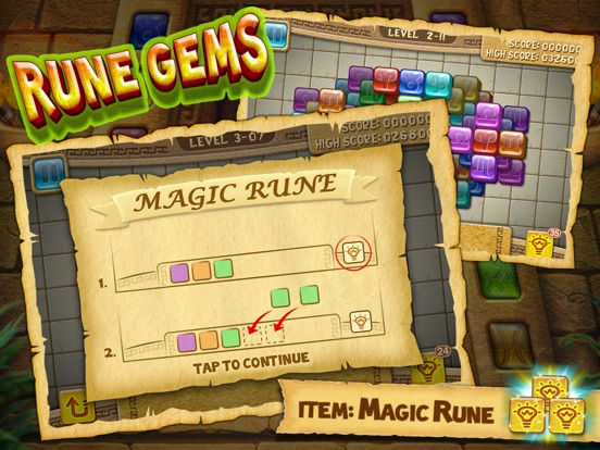 Скачать игру Rune Gems - Block n Tile Crush