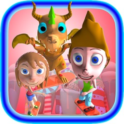 Candy City Sky Surfers HD - Skateboard/hoverboard-surfing run game for boys and girls