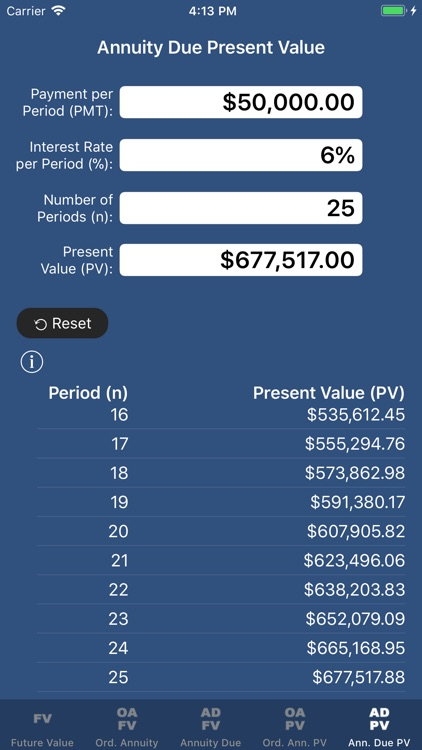 SuperFVCalc: FV, PV, Annuities screenshot-4