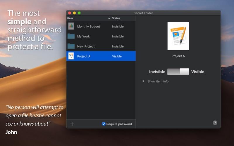 Secret Folder Screenshots