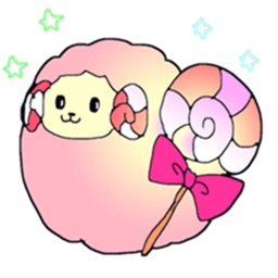 Colorful Fluffy Sheep Sticker