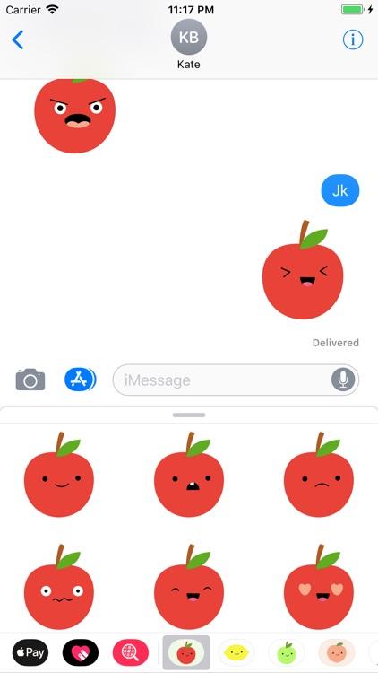 Cute Apple Stickers screenshot-3