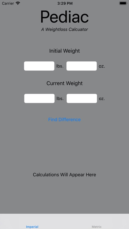 Pediac Weight Calculator