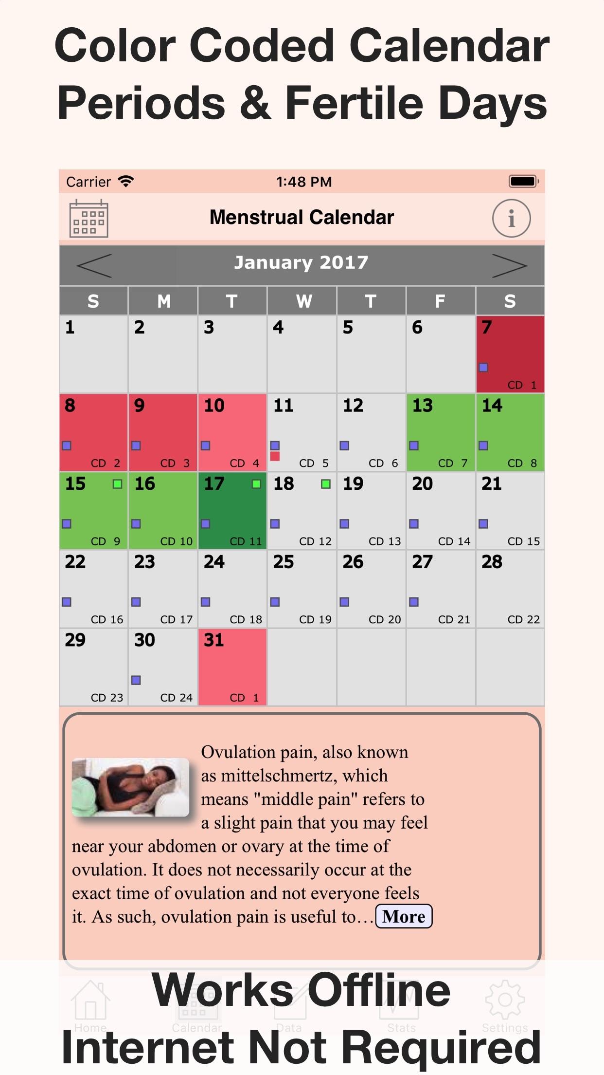 Menstrual Calendar FMC Screenshot