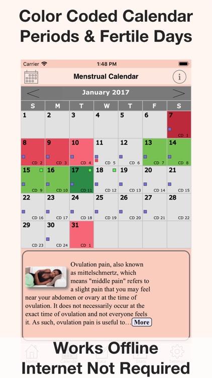 Menstrual Calendar FMC