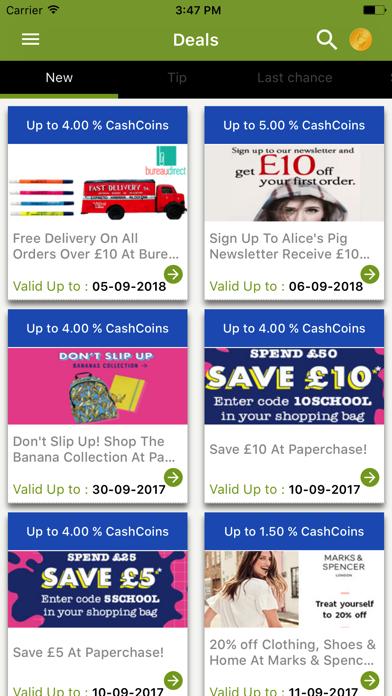 CashbackEarners.co.uk screenshot three