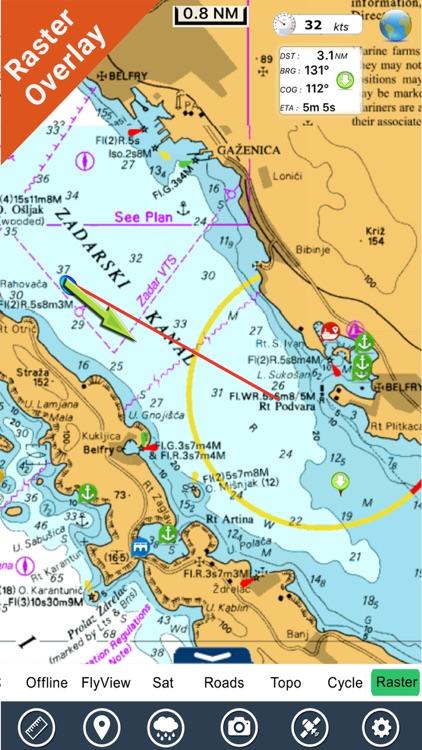 Croatia Nautical Charts HD GPS