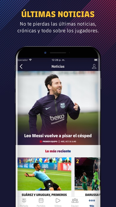 Screenshot for FC Barcelona Oficial in Chile App Store