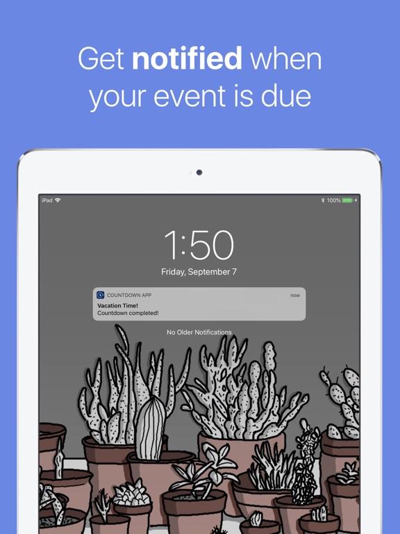 Screenshot #2 for The Countdown App