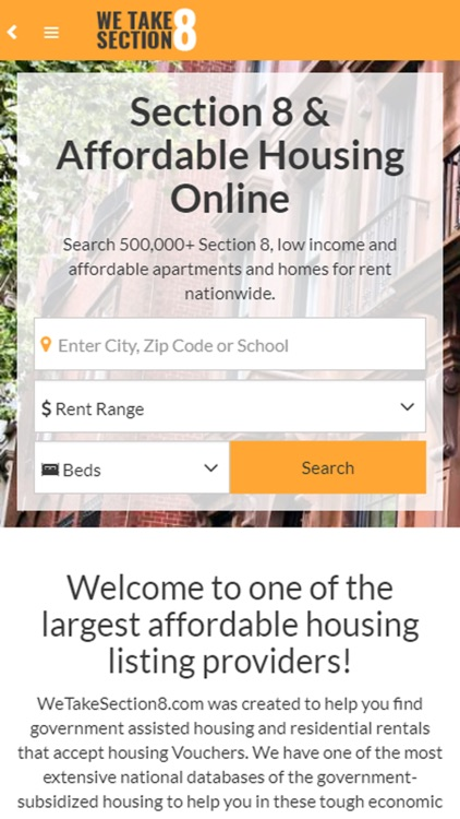 Section 8 Rentals by Real Estate Data Solutions Inc