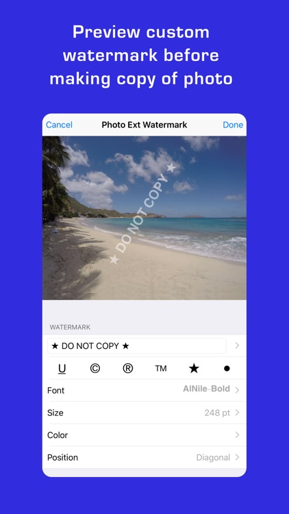 Photo Extension Watermark