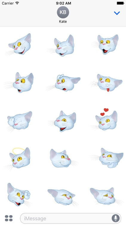 White Cat emoji screenshot-4