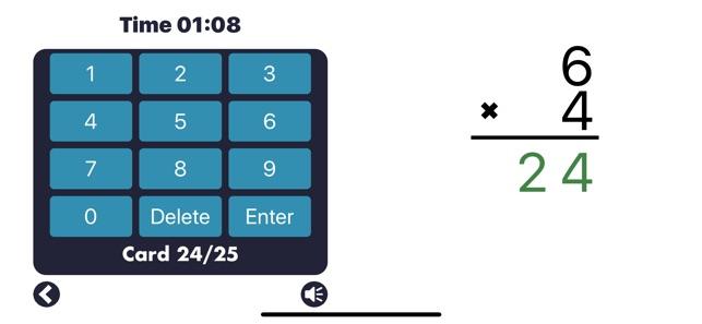 MathEdge Multiplication Screenshot