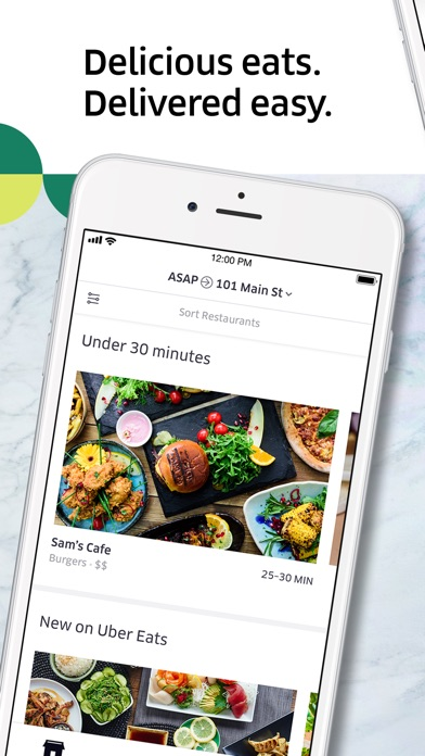 Screenshot for Uber Eats: Food Delivery in United States App Store
