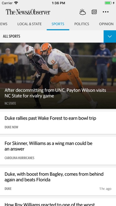 The Raleigh News Observer review screenshots