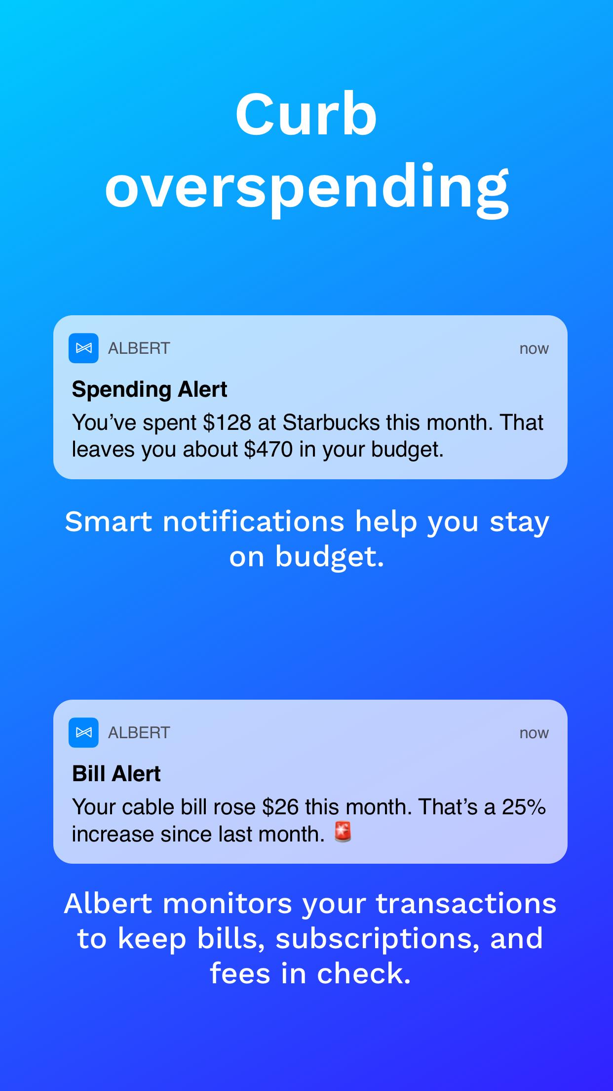 Albert: Save and Spend Smarter Screenshot