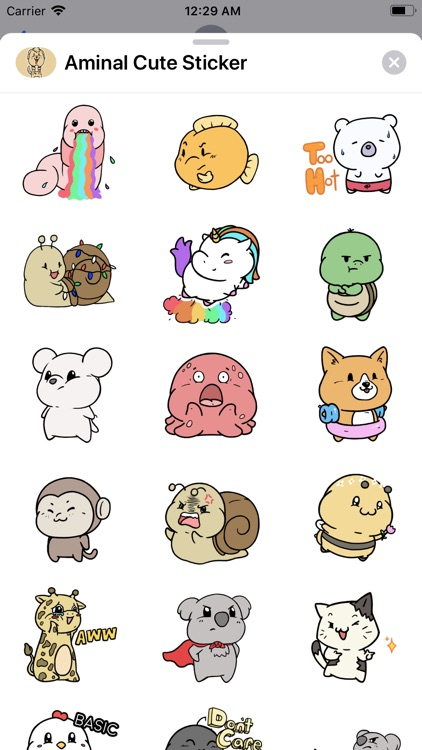 Aminal Cute Sticker