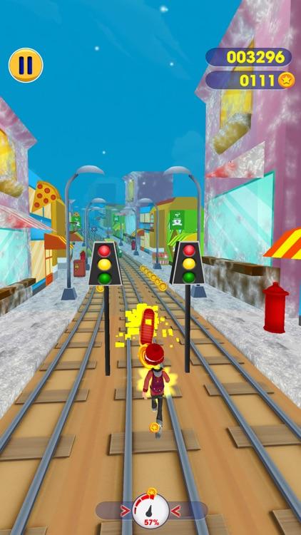 Subway Santa Runer screenshot-4