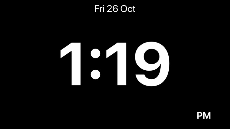 Minimalistic Bedside Clock screenshot-0