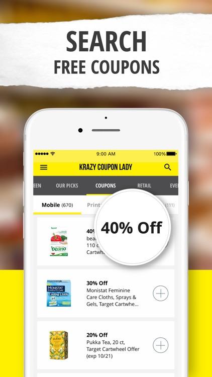 Krazy Coupon Lady: Shop & Save screenshot-4