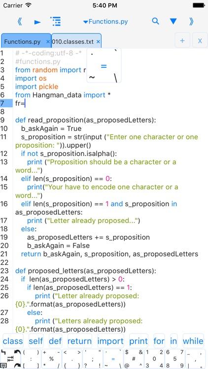 Python3.4 IDE-run code,outline